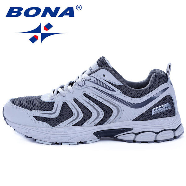 BONA New Arrival Hot Style Men Running Shoes Lace Up Breathable Comfortable Sneakers Outdoor Walking Footwear Men Free Shipping