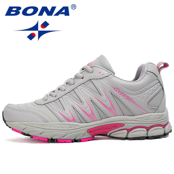 BONA New Hot Style Women Running Shoes Lace Up Sport Shoes Outdoor Jogging Walking Athletic Shoes Comfortable Sneakers For Women