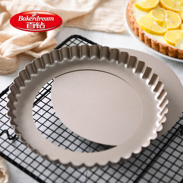 Bakerdream 3.6/5/8 inch Nonstick Tart Pan With Removable Bottom Tart Cake Pan Carbon Steel Baking Dishes