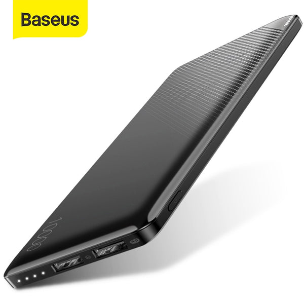 Baseus 10000mAh Power Bank Slim External Battery Pack Dual USB Powerbank Portable Mini Phone Charger For Phone