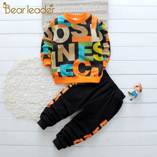 Bear Leader Boys Clothes Children's Clothing Sets Autumn Long Sleeve Active Suits Letter Print Baby Clothes 2pcs Boy Set