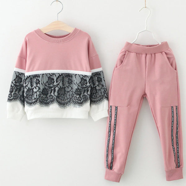 Bear Leader Girls Clothing Sets New Autumn Active girls clothes L Children Clothing Cartoon Print Sweatshirts+Pants Suit 3-7Y