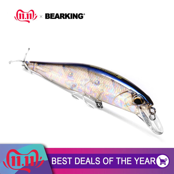 Bearking A+ hot model fishing lures hard bait 7color for choose 10cm 15g minnow,quality professional minnow depth0.8-1.5m