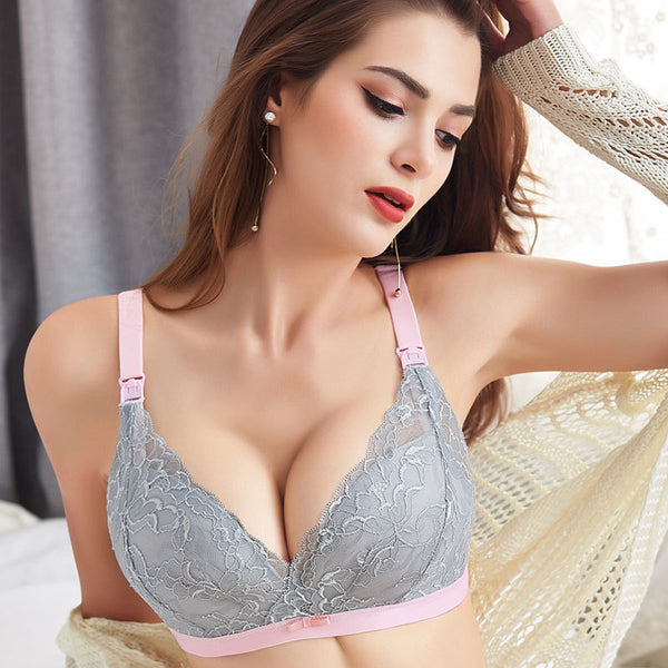 Big Size Nursing Bra D Cup BreastFeeding Maternity for Feeding Lace Soft Clothes cotton Pregnancy Underwear for pregnant women