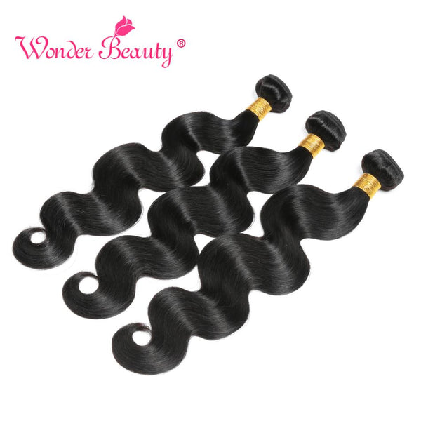 Body Wave Bundles Brazilian Hair Weave Bundles 100% Human Hair Bundles Wonder Beauty Natural black Remy Human Hair Extension