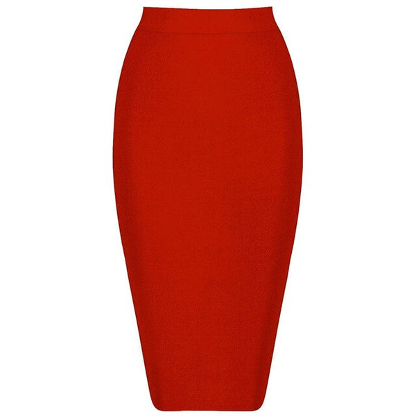 Bqueen New Women's Bandage Skirt Summer Fashion Knee-length Solid Color Slim Bodycon Skirt Wear To Work Fashion Hot