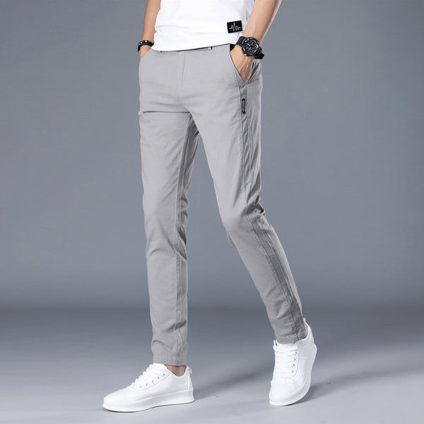 Brand Men Pants Casual Mens Business Male Trousers Classics Mid weight –  Kopaland