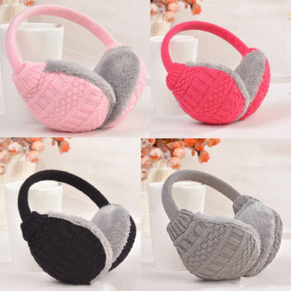 Brand New Style Winter Warm Knitted Earmuffs Ear Warmer Fashion Women Girls Ear Muffs Earlap Casual  Earmuffs
