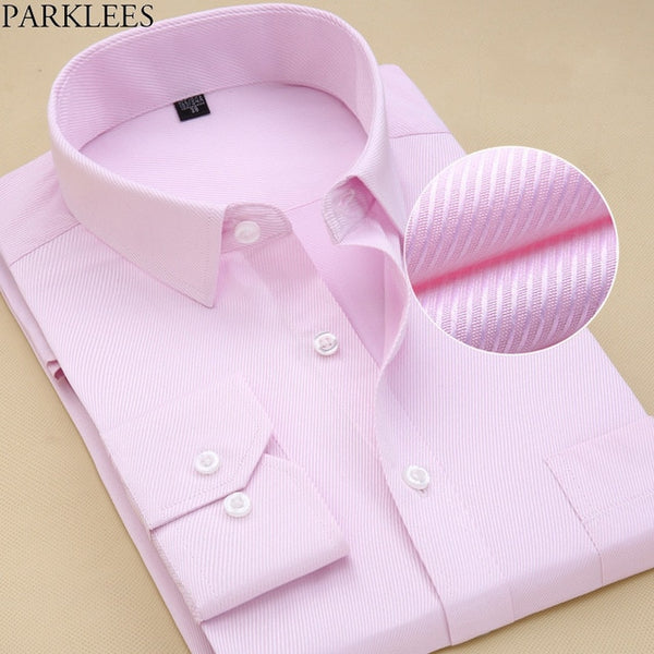 Brand White Men Shirt Long Sleeve Chemise Homme  Fashion Business Design Mens Slim Fit Dress Shirts Casual Camisa Social