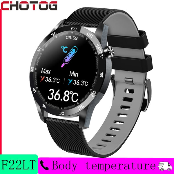 CHOTOG Smart Watch Men Body Temperature Music Control Smartwatch Waterproof Heart Rate Fitness Tracker Women Full Touch Clock