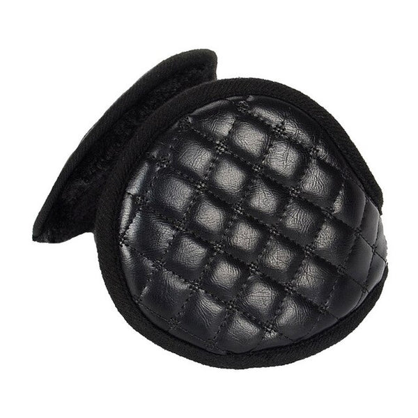 CLIMATE Men Blank Earmuffs Men PU Winter Ear Warmer Cover Muff Cool Army Warm Ear Muff PU Blank Ear Muffs for Men Women