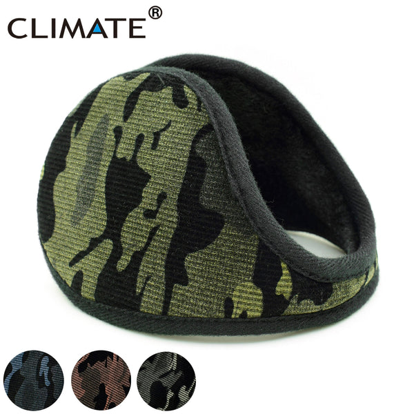 CLIMATE Men Camouflage Earmuffs Men Winter Ear Warmer Cover Camou Muff Cool Army Warm Ear Muff Military Ear Muffs for Men Women