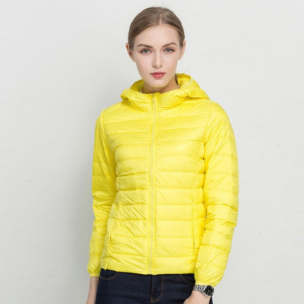COMLESS 18 Colors Fashion Spring Autumn Jacket with Hood Women Hoodies Slim Fit Outwear Jacket SizeXXXL Ultra Light Jackets