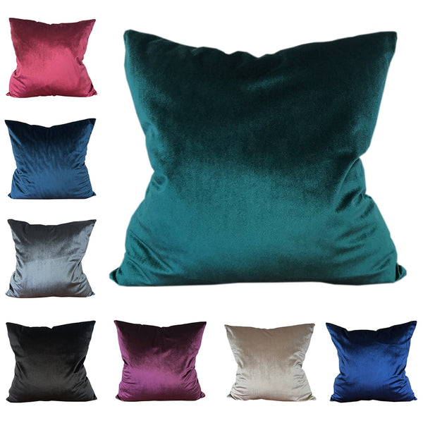 CURCYA Comfortable Solid Colors Velvet Cushion Cover Soft Sofa Waist Decorative Throw Pillow Covers Cases Christmas Gift