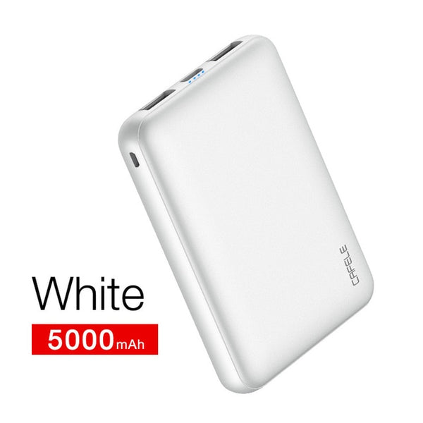 Cafele 10000mAh Power Bank Portable Charging Powerbank Dual USB Slim External Battery Charger For Samsung iphone Xiaomi minisize