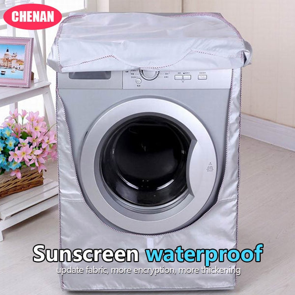 Chen An Washing Machine Cover Waterproof Case Home Sunscreen Laundry Dryer Polyester Silver Coating Roller Dustproof Covers