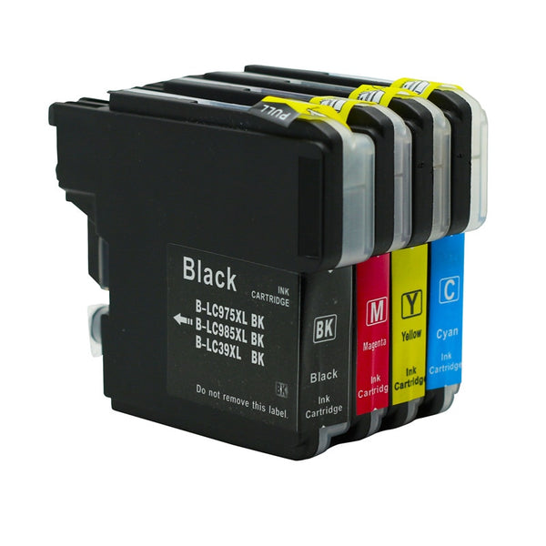Compatible Ink Cartridges For Brother LC985 LC 985 LC975 LC39 DCP-595CN MFC-930CDN MFC-935CDN MFC-J950DN MFC-J415W Printer Ink