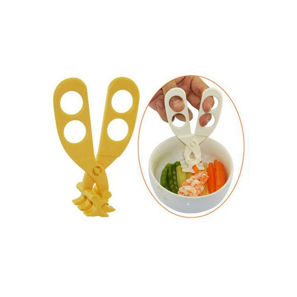 Creative baby food crushing scissors noodles fruit and vegetable handmade grinder for kitchen knives