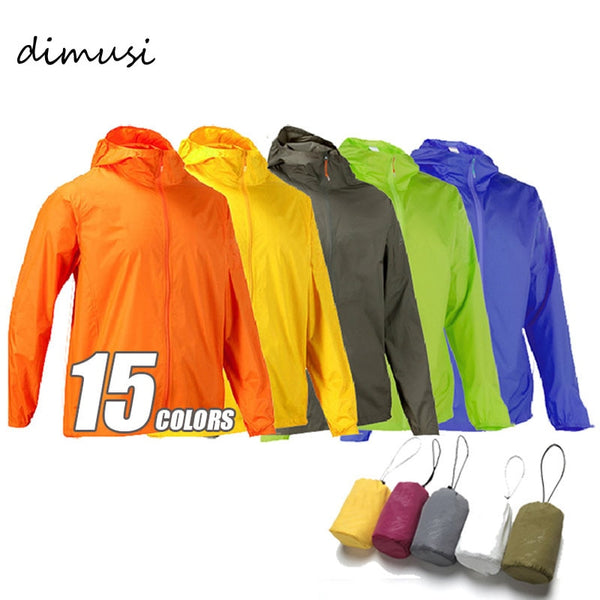 DIMUSI  Men's Brand Quick Dry Skin Coat Sunscreen Waterproof UV Women thin Army Outwear Ultra-Light Windbreake Jacket 3XLYA105