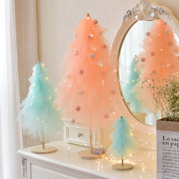 DIY Girl favorite Christmas Tree New Year Decoration for Girls INS Style Mini Pink Christmas Tree Christmas Decor DF13