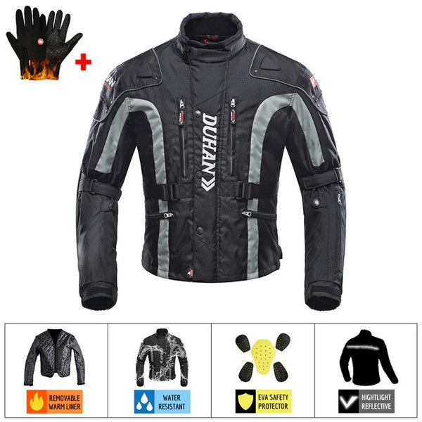 DUHAN Motorcycle Jackets Men Riding Motocross Enduro Racing Jacket Moto Jacket Windproof Coldproof Motorbike Clothing Protection
