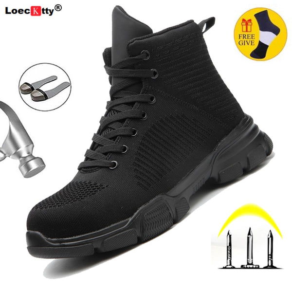 Drop Shipping Sneakers Men Work-Shoes Steel Men's Toe-Protective Puncture-Proof Anti-Smashing Outdoor