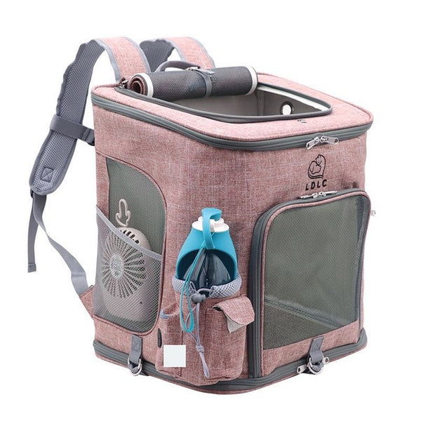 Dropshipping Cat Carrying Extra Large Capacity Pet Backpack Dog Breathable Pet Carrier Outdoor Travel Portable Shoulder Bag M/L