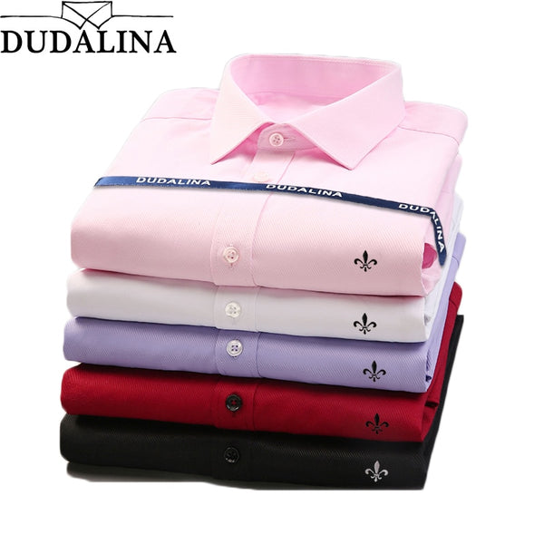Dudalina Brand Men Shirt Male Dress Shirts Men's Fashion Casual Long Sleeve Business Formal Shirt Camisa Social Masculina