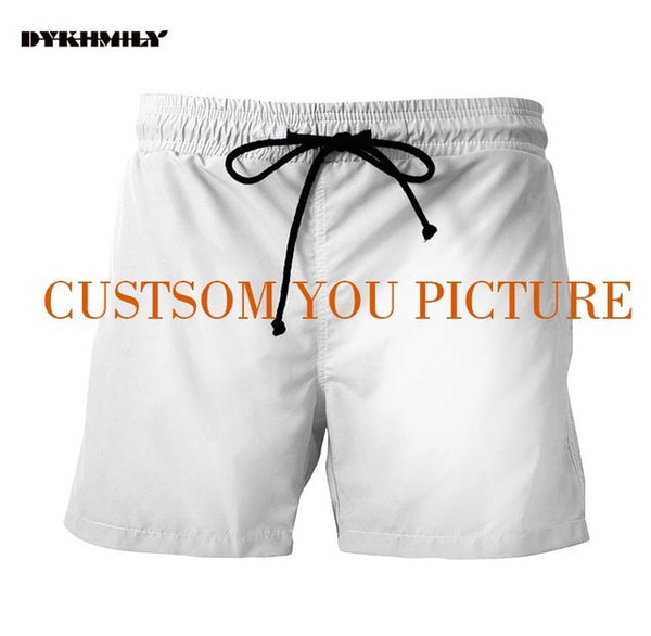 Dykhmily 3d Custom Full Print Shorts  Men Beach Shorts Plus Size  High Quality Man Shorts Custom Full Print
