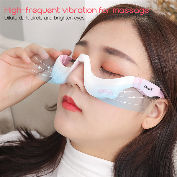 Electric Eye Massager EMS Vibration Eye Care Massage Tool 3D Eyewear Warm Hot Compress Therapy Relief Eye Fatigue Relaxation 45