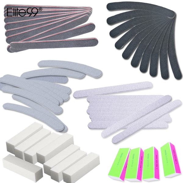 Elite99 13 Pcs/set Nail Sanding Files 4 Way Buffer Block Nail Art Salon Manicure Pedicure Care Tools Kit Set