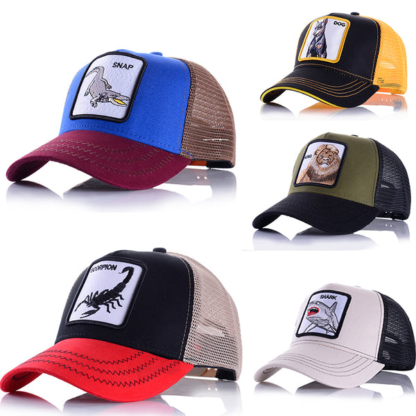 Embroidered Baseball Caps Men's Women's Universal Adjustable High Quality Outdoor Shade Animal Dad Truck Driver Mesh hats