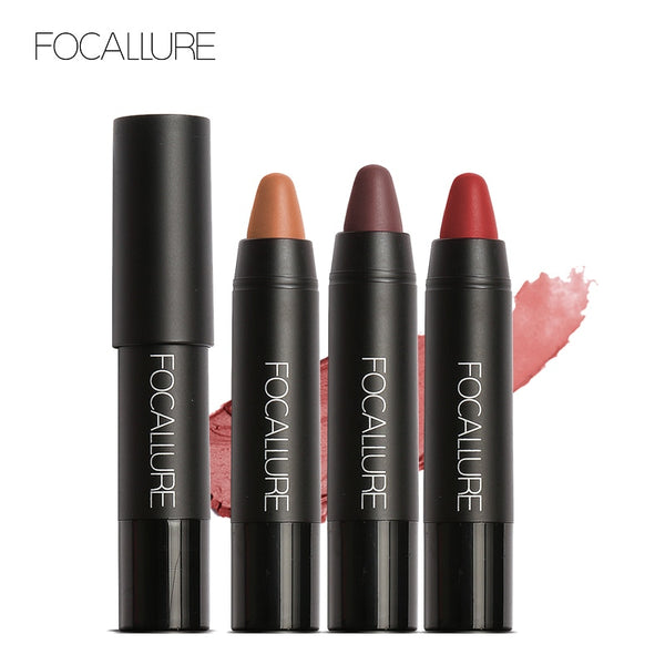 FOCALLURE Matte Lipstick 19 Colors Waterproof Long-lasting Easy to Wear Professional Lipstick Nude Lipstick