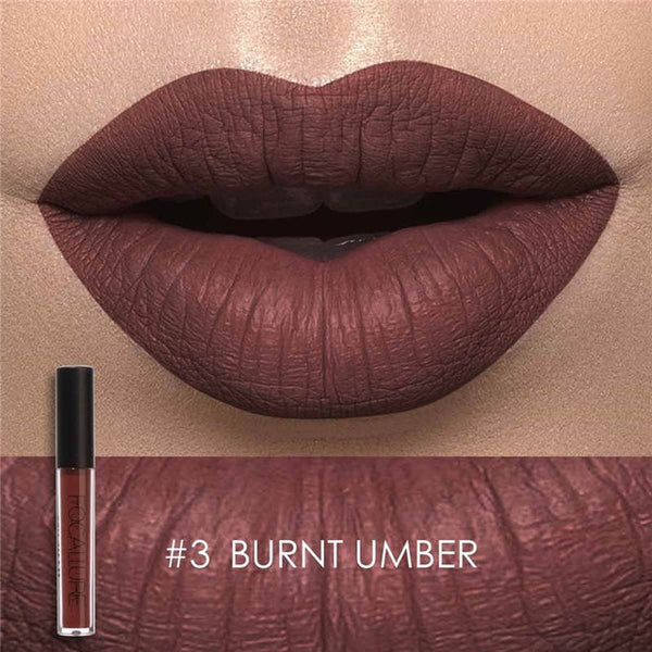 FOCALLURE Matte Lipstick Batom Waterproof Lip stick Smooth Long-lasting Cosmetics Kiss-proof Makeup Lip Stick