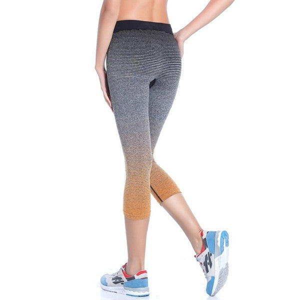 Factory Price! Women Leggings Summer Capri Pants Fitness Clothes Elastic Capris Leggings