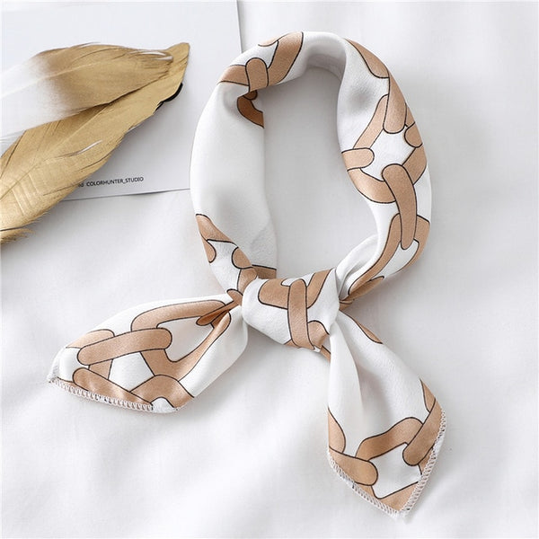 Fashion Women Silk Neck Scarf Hair Band Tie Satin Scarves Small Elegant Bandana Scarfs Foulard Handkerchief 2020 New