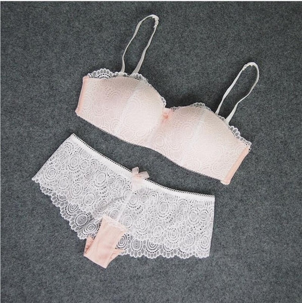 Fashion sexy bra set lace cup thin wireless tube top design underwear accept supernumerary breast shaping summer women's bra set