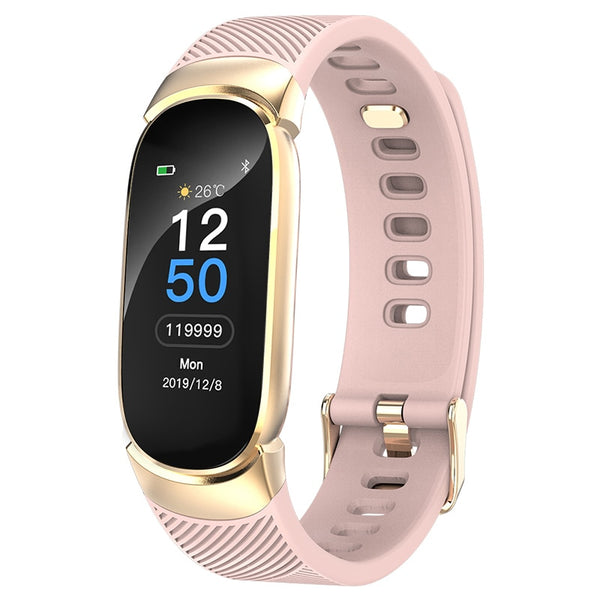 Female Smart Fitness Bracelet Color Screen Smart Band Blood Pressure Heart Rate Monitor Watch for ios android Wearable Devices