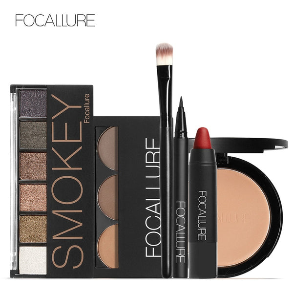 Focallure Makeup Kit Makeup Set with 6colors/palette Eyeshadow Eyebrow Eyeliner Face Powder Matte Lipstick in one Makeup Kit