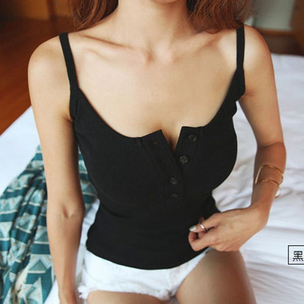 Foxmertor Crop Top New Tank Top Summer Sexy Slim Solid Cotton Women Sleeveless Halter Pink Black White Bustier Crop Tops