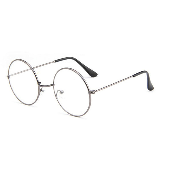 Frame Retro Brand UV400 Unisex Fashion Polit Glass frame glasses Retro Clear Retro Clear Lens Eyewear Accessories Metal glasses