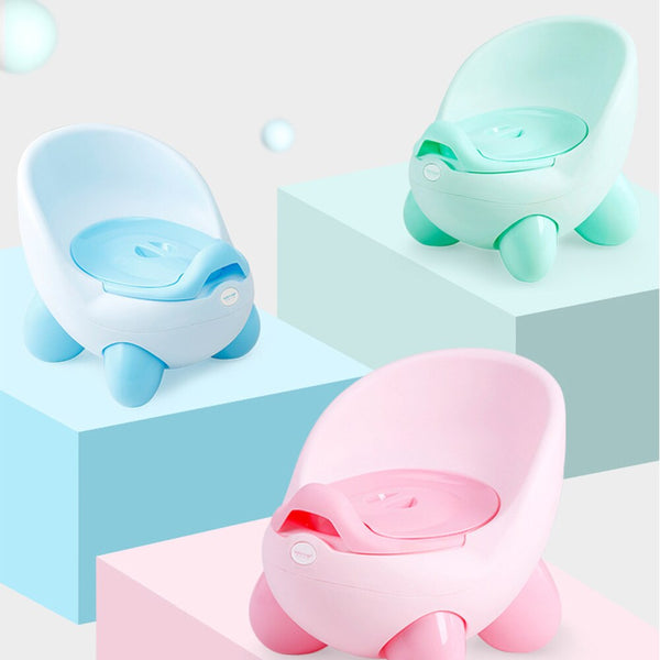 Girls Boys Cartoon Pots Baby Potty Toilet Seat Bowl Portable Training Pan Children's Pot Kids Bedpan Comfortable Backrest Toilet