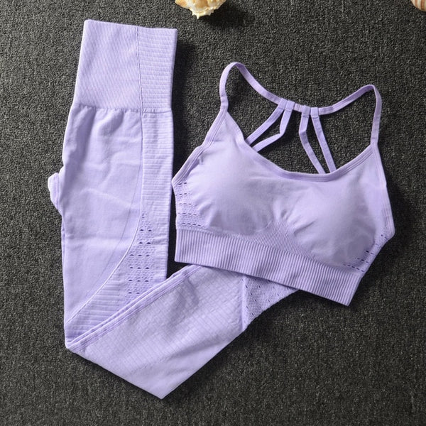 Gym 2 Piece Set Workout Clothes for Women Sports Bra and Leggings Set Sports Wear for Women Gym Clothing Athletic Yoga Set