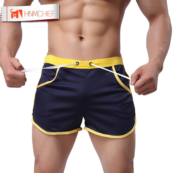 HNMCHIEF Quick Dry Clothing Men's Casual Short Household Man Shorts G Pocket Straps Inside Trunks Beach Shorts Breathable