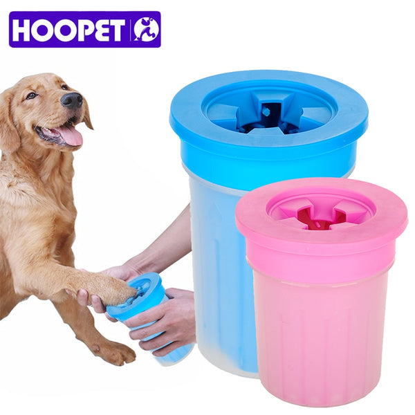 HOOPET Pet Cats Dogs Foot Clean Cup For Dogs Cats Cleaning Tool Soft Plastic Washing Brush Paw Washer Pet Accessories for Dog