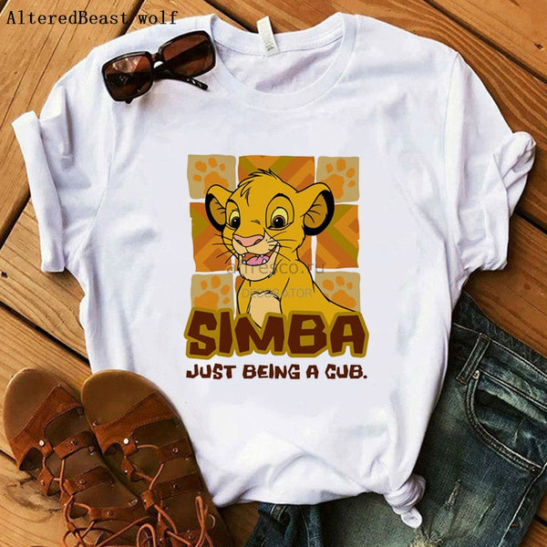 Hakuna Matata t shirt women printed SIMBA harajuku the lion king vogue T-shirt Summer casual short sleeve Fashion Tops Tee