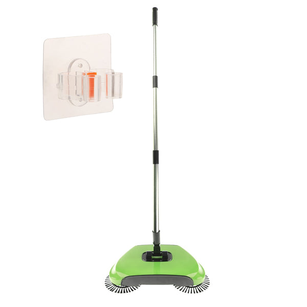 Hand Push Broom Sweeper Cleaning Tool Sweeping Cleaner Mop GN + Broom Holder