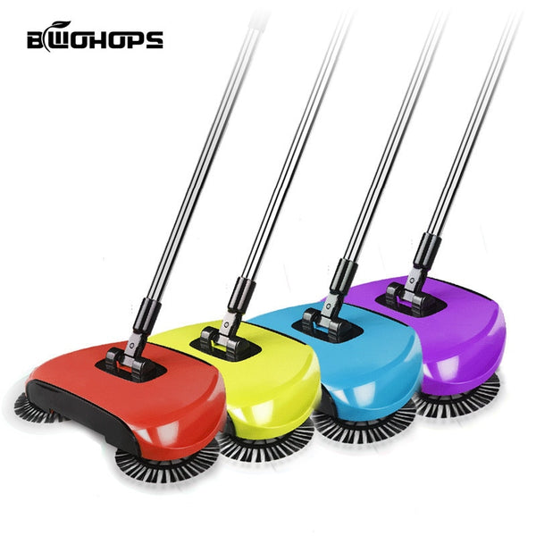 Hand Push Sweepers Spinning Brush As Machine Push Type Magic Broom 360 Dustpans Easy Vassoura Hard Floor For Lazy  Cleaner