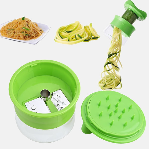 Handheld Carrot Potato Cucumber Spiral Grater Cutter Vegetable Fruit Slicer Salad Noodle Spaghetti Zucchini Blade Spiralizer