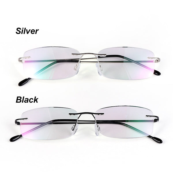 Health Care Reading Glasses For Elder Rimless Ultra-light Memory Titanium Eyeglasses Magnetic Rectangular Eyewear Accessories